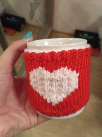 чашка с декором на подарок
