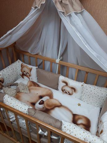Комплект постели в кроватку бортики постіль в ліжечко