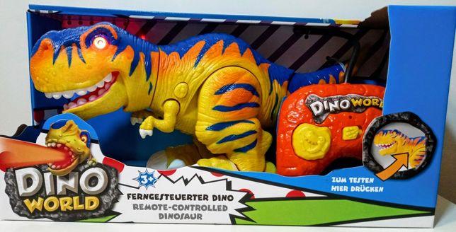 Dinozaur zdalnie sterowany chodzący, świecący z dźwiękiem-NOWY-prezent