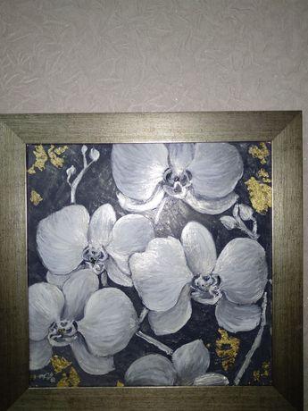 Картина маслом  орхидея