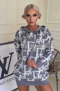 Sweterek Damski Siwo-Biały Paris od Enzoria UNI
