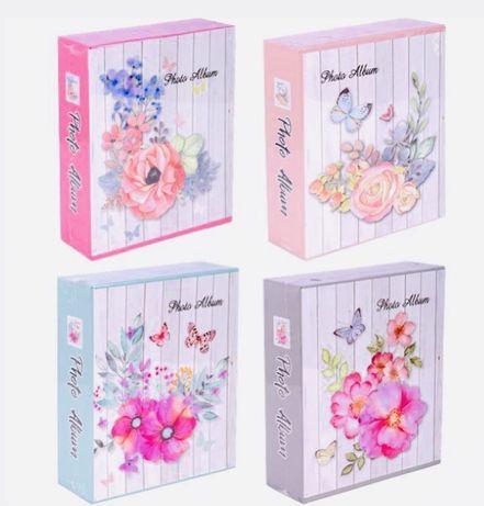 Фотоальбом на подарок с единорогом в картонном футляре, с фламинго