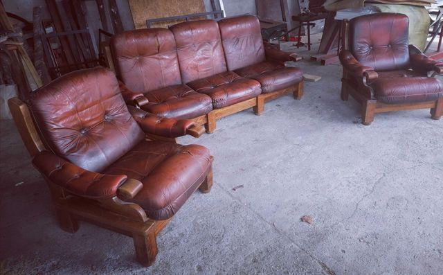 Meble sofa zestaw mebli narożnik fotel