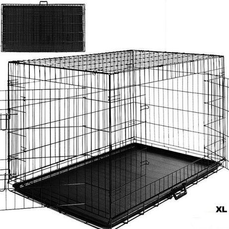 Duża KLATKA KOJEC TRANSPORTER kennelowa dla psów psa 108x70x77