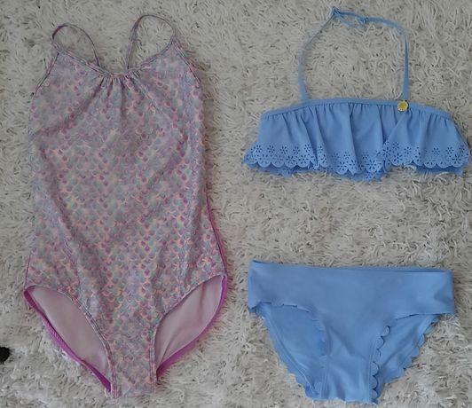 H&M cat Jack dwa stroje kąpielowe dla dziewczynki 140 jak nowe