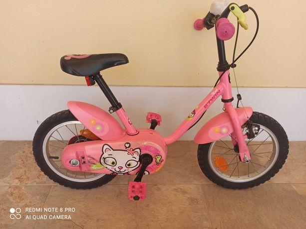 Bicicleta de criança 3-5 anos 14 polegadas com rodas de apoio