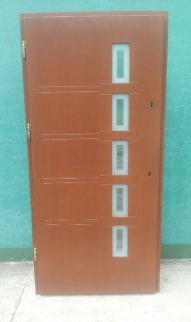 - 40 % Wyprzedaż Ekspozycji Drzwi Drewniane 78 mm Zewnętrzne 100 x 211
