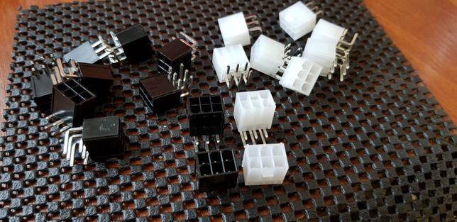 Разьем коннектор 6 pin и 8 pin PCI-E для видеокарт/асик ASIC контакты