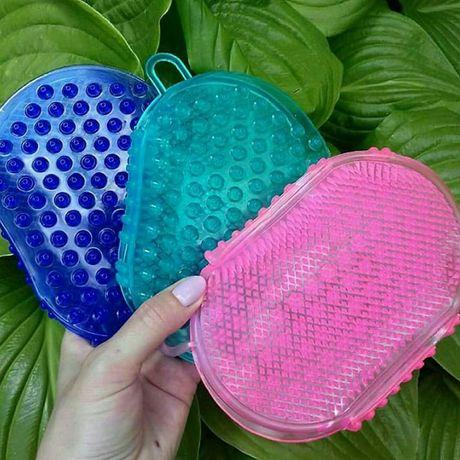 антицеллюлитная щетка перчатка варежка массажер для  массажа