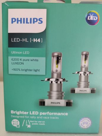 Lampadas LED H4 Philips Ultinon MT-PH, 6.200K