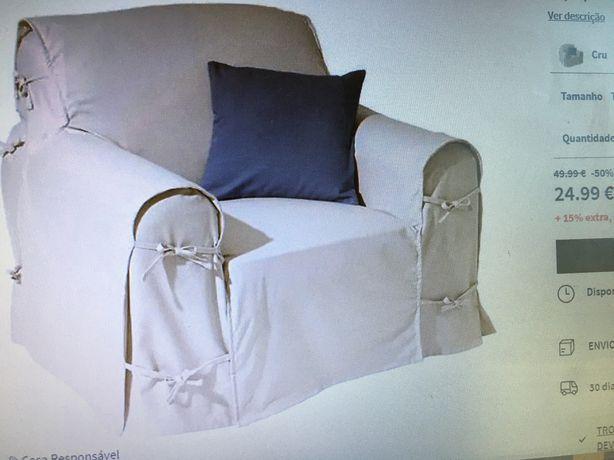 Coniunto de duas Capas de poltrona e sofa 3 lugares