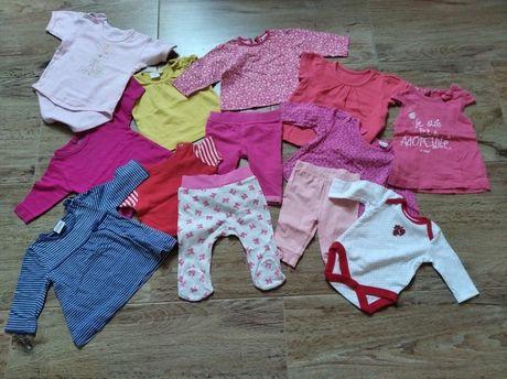 Paka dla dziewczynki 0-3mc ubranka rzeczy ciuchy