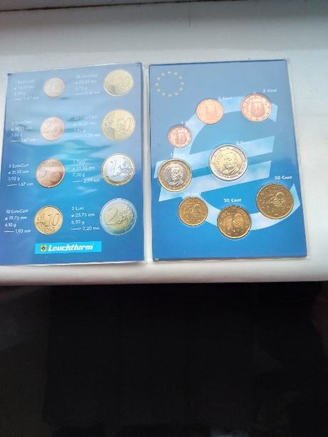 Hiszpania klaser z monetami od 1 centa do 2 euro - 8 szt.
