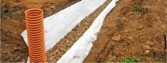 Odwodnienie działki - drenaż, odprowadzenie wody z rynien