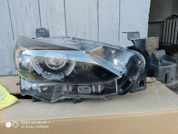 Правая фара (Европа) Full LED AFL (2 линзы) Mazda 6 GJ рест. 16-18гг.