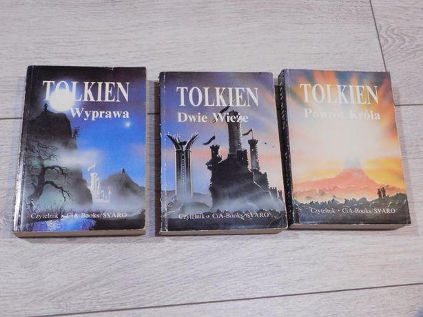 """J.R.R. Tolkien książki """"Wyprawa"""", """"Dwie Wieże"""", """"Powrót króla"""""""