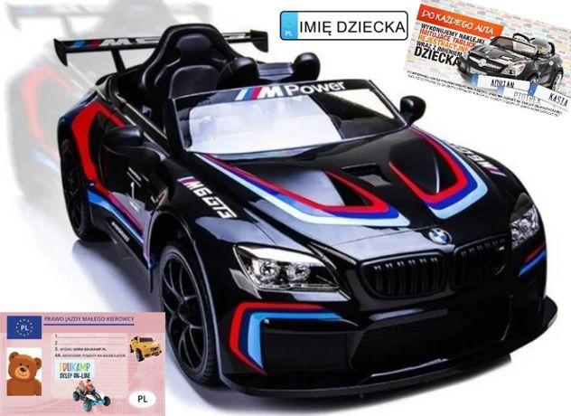 Auto na akumulator 2x45W BMW M6 GT3 EVA Ecoskóra Bluetooth KLIMATYZACJ