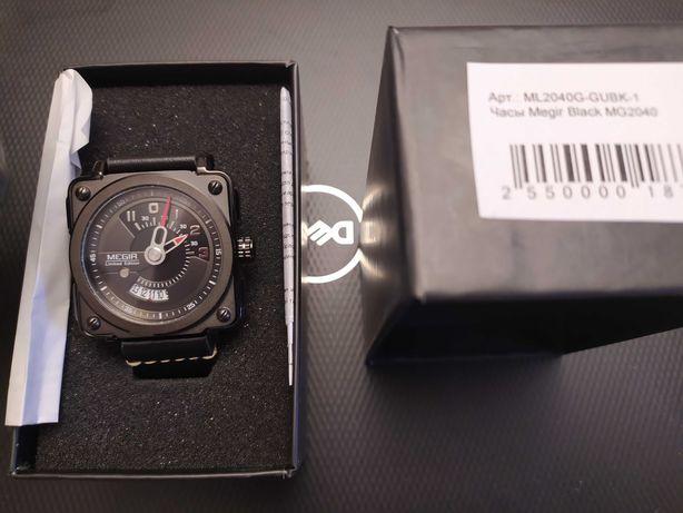 Продам часы Megir Black MG2040