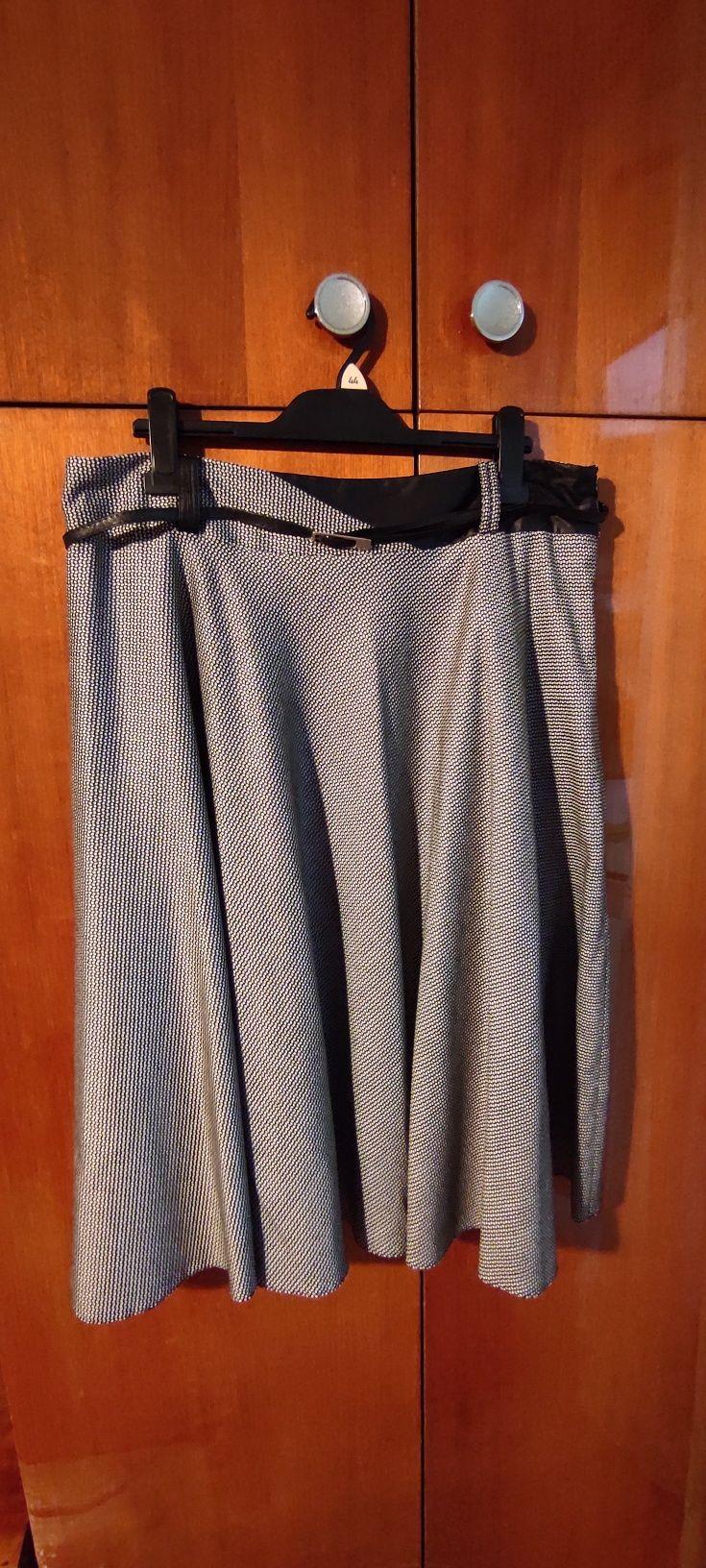 elegancka spódnica czarno-biała, r.46