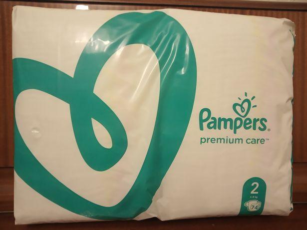 Детские Подгузники Pampers Premium Care 2 (вес 4-8) в упаковке 78 штук
