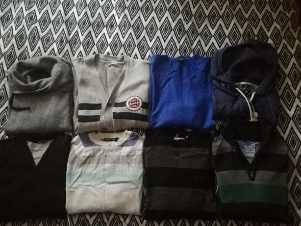 Sprzedam zestaw męskich swetrów diverse, house, mckenzie- stan b. dobr
