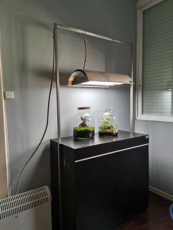 Móvel + Iluminaria para aquário ou plantas  OFERTA de Aquário 90x45x45