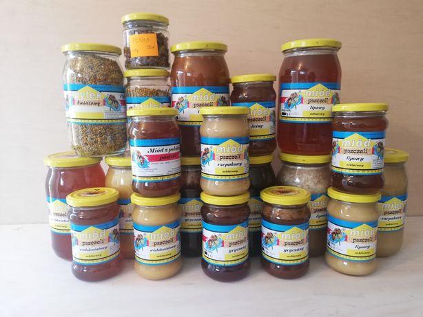 Z własnych pasiek z Polski: miód pszczeli, pyłek, pierzga