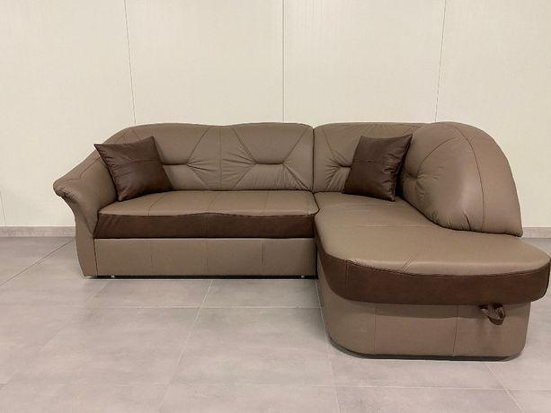 Narożnik sofa kanapa narożna FRESH prawdziwa naturalna skóra, OD RĘKI!