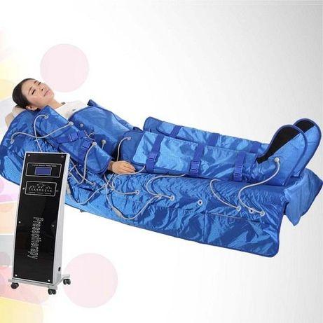 Пресотерапія (лімфодренажний апаратний масаж) + інфрачервоний прогрів.