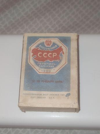 Спички СССР 1989г