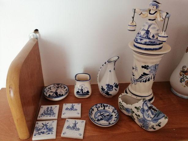 Delft stara porcelana, chodak, nosiwoda.