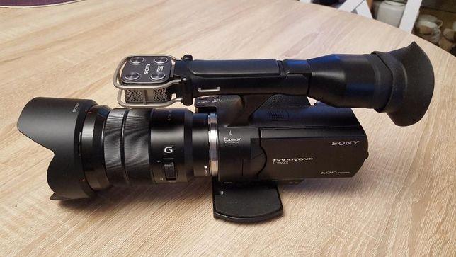 Kamera Sony NEX-VG20E + Obiektyw Sony E PZ 18-105 + osprz