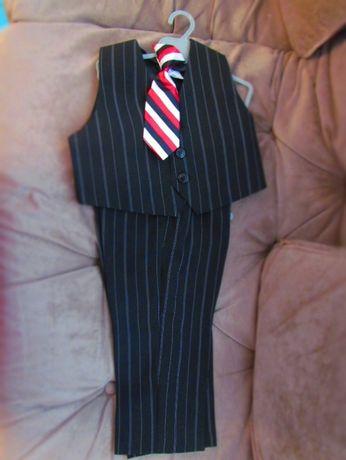 Костюм-двойка нарядный с галстуком для мальчика 1.5 года