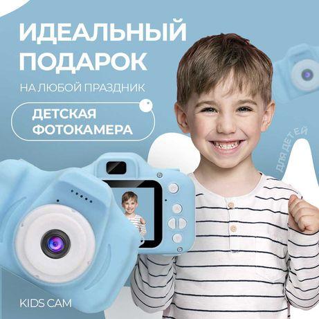 Детская фотокамера c 2.0″ дисплеем и с функцией видео синяя, розовая