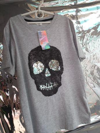 Классная футболка на мальчика подростка 158-164 р.  H&M