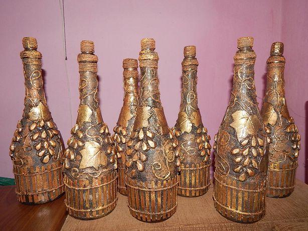 Оригінальні пляшки,декупаж