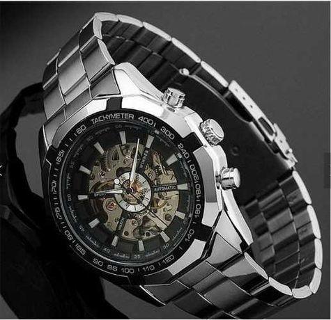 Мужские часы Winner, механика с автоподзаводом, годинник Вінер