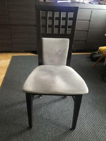 krzesla ciemny brąz 4 sztuki