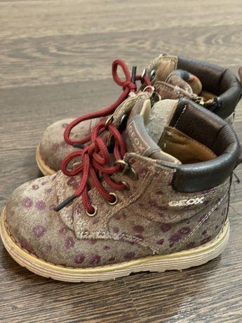 Ботинки деми Geox размер 21 состояние хорошее стелька 14 см