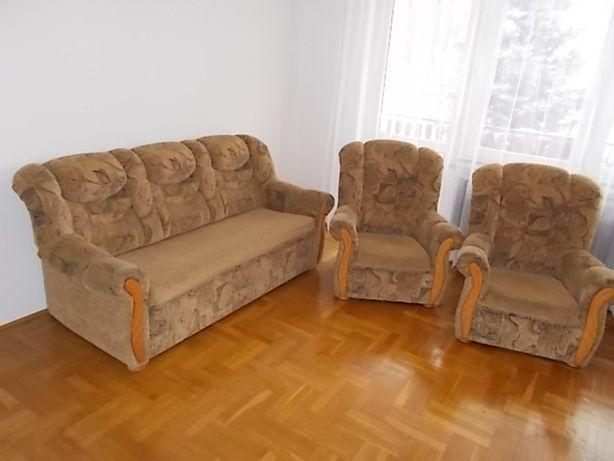 2 fotele i sofa z funkcją spania komplet okolice Zabierzowa