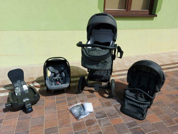 Wózek spacerówka BEBETTO TITO, fotelik AVIONAUT, adaptery+ BAZA ISOFIX