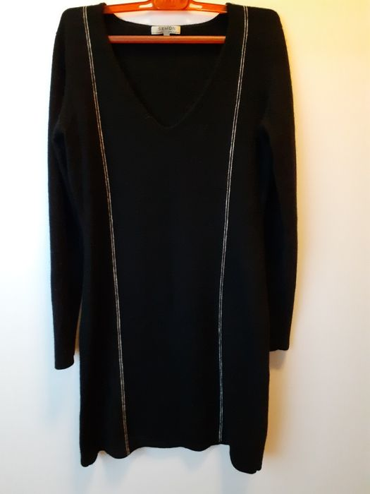 Sukienka 100% kaszmir M czarna Żędowice - image 1