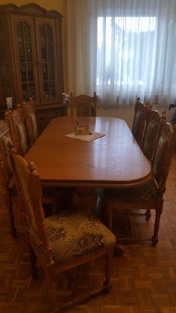 stół rozkładany + 8 krzeseł