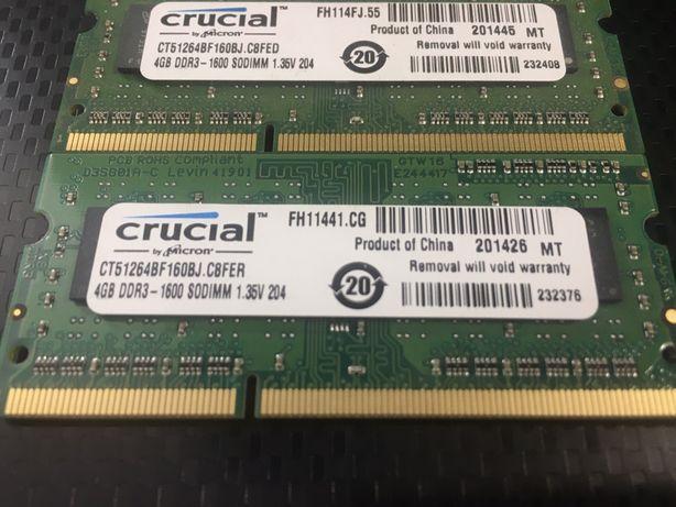 Memórias RAM 2 e 4Gb - Crucial / Elpida / Hynix