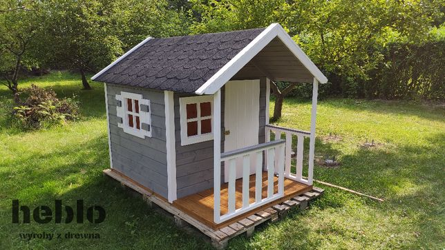 Drewniany, solidny domek dla dzieci do ogrodu