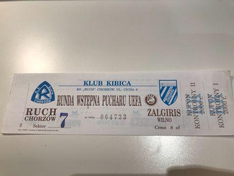 Bilet Ruch - Żalgiris Wilno 2000 r.