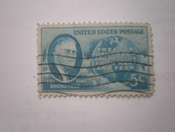 Znaczek Roosevelt 5Centów