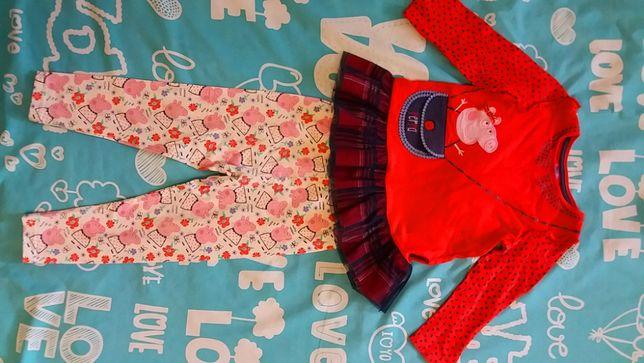 Peppa ping Пеппа комплект одежды 92-98 см 2-3 года