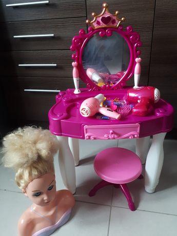 Toaletka akcesoria lalka głowa lalki do czesania suszarka