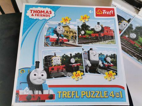 Puzzle Tomek i Przyjaciele 4 w 1 i 10 w 1